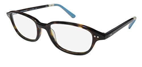 Toms Bangladesh Classic 701 Mens/Womens Designer Full-Rim Shape Contemporary Hip Eyeglasses/Eye Glasses (48-18-135, Tortoise/Ivory/Aquamarine) (Aqua-brillen Frames)