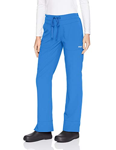 Grey's Anatomy Signature Women's 3 Pocket Low Rise Scrub Pant, New Royal, Small - Large Scrubs New