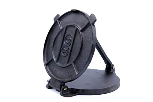 Cast Iron Tortilla Press and Pataconera, Pre Seasoned Heavy Gauge, 8 inch by Kitchen Gourmand by Kitchen Gourmand (Image #1)