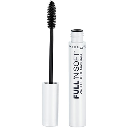Maybelline Full 'N Soft Waterproof Mascara, Very Black, 1 Tube