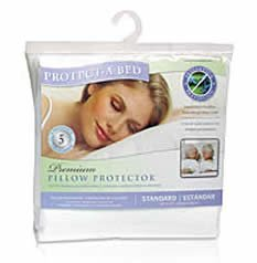 Protect-A-Bed Premium Waterproof Pillow Protector, Standard Pillow Size (21x27 in.)