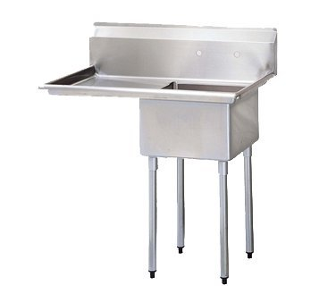 Turbo Air Stainless Steel 18'' Wide One Compartment Sink
