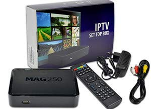 - Original MAG 250 W1 Multimedia Player Built-in 150Mbps Wi-Fi & HDMI Cable INFOMIR