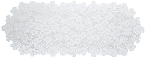 (Heritage Lace Dogwood 14x33 Runner, White)