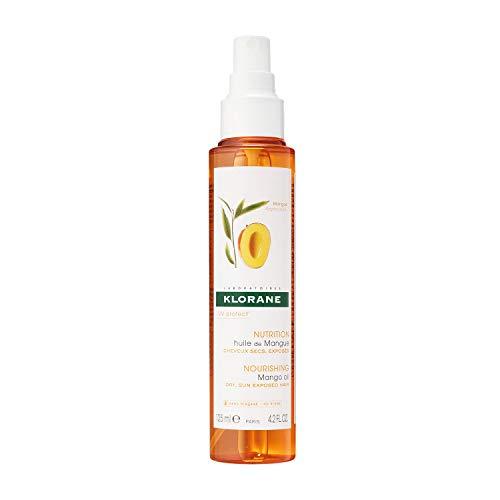 Klorane Nourishing Mango Oil, Dry Hair Oil, Waterproof, UV Protecting Spray, Paraben, Sulfate, Silicone Free, 4.2 oz.