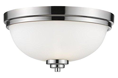 Matte Opal Glass Bowl - 443F3-CH Chrome Ashton 3 Light 15