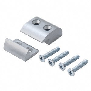 CRL Satin Aluminum Stabilizer Package for Jackson 896 Removable Mullion - Single Door by CR ()