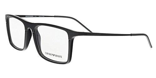 Armani EA1058 Eyeglass Frames 3001-53 - Matte Black / Black