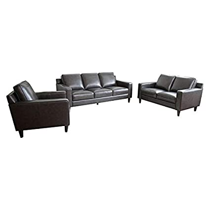Amazon.com: Abbyson Living RX-6637-SGRY-3/2/1 Whittier Sofa ...