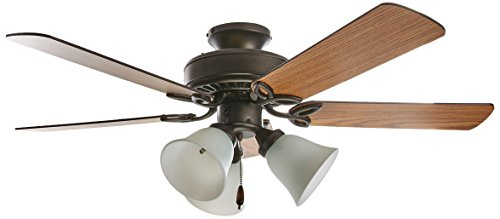 Emerson Ceiling Fans CF710ORB Pro Series II Low Profile Hugger Ceiling Fan With Light, 42-Inch Blades, Oil Rubbed Bronze ()