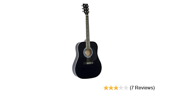 Johnson JG-610-B 610 Player Series Acoustic Guitar, Black