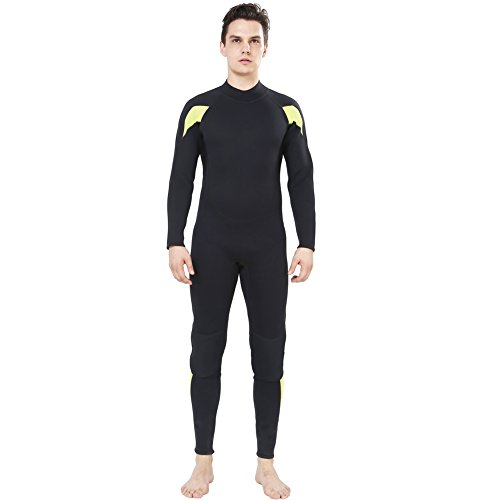 Dark Lightning Mens 3mm Full Suit Wetsuit for Scuba Diving, Snorkeling Surfing Thick and Warm Jumpsuit for Multi Watersports (XXXLarge) 3mm Full Wetsuit Diving Suits