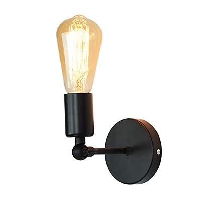 Black Adjustable Wall Light, European Modern Minimalist Balcony Bedside Rotatable Wall Lamp Corridor Aisle Porch Wall Sconce E27