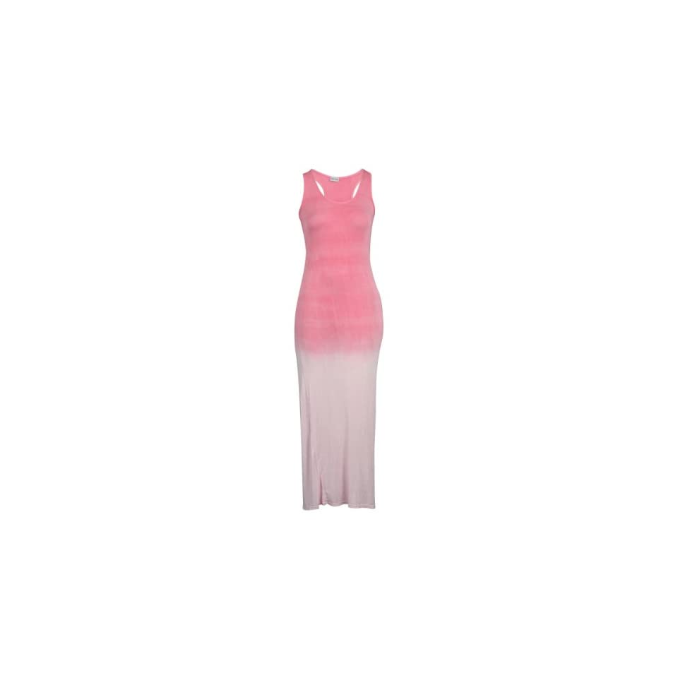 My1stWish Womens 88K Ombre Printed Ladies Racer Back Sleeveless Long Maxi Dress Size 8/10 Pink