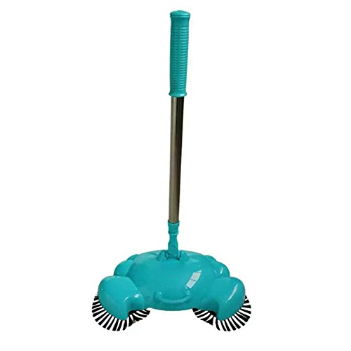 NALEDI Automatic Hand Push Sweeper Broom Robot ,Without Electricity Dustpan Trash Bin, Manual street sweeper 3 in 1 ()