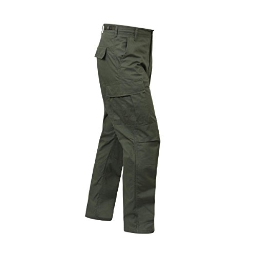 Cargo Pants Olive Drab (Rothco Rip-Stop BDU Cargo Pants, Olive Drab, S)