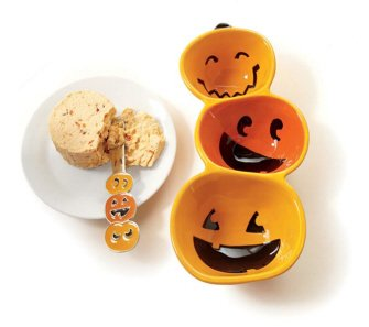 - Tag 651195 3-Part Divided Pumpkin Serving Dish