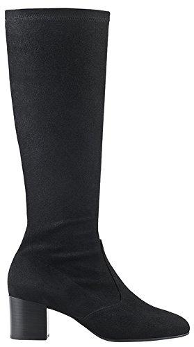 Högl Damen Stiefel Blockabsatz schwarz Suede-Stretch