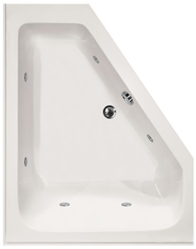 Hydro Systems COU6048ACO-WHI-RH-WOV.ORB Courtney Acrylic Tub with Combo System (Right Hand Drain Included), White/Oil Rubbed Bronze