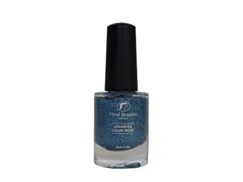 - Three Beauties Advanced Color Wear, Glitter Sky, 0.5 fl. oz.