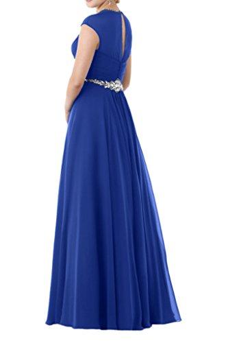 mia Royal linie 2016 Lang Braut La Brautmutterkleider A Abendkleider steine Kurzarm Partykleider Neu Silber Blau dIqSxwn6