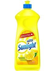 Sunlight 2458283 Sunlight Standard Dishwashing Liquid, Lemon Fresh, 800mL, Yellow