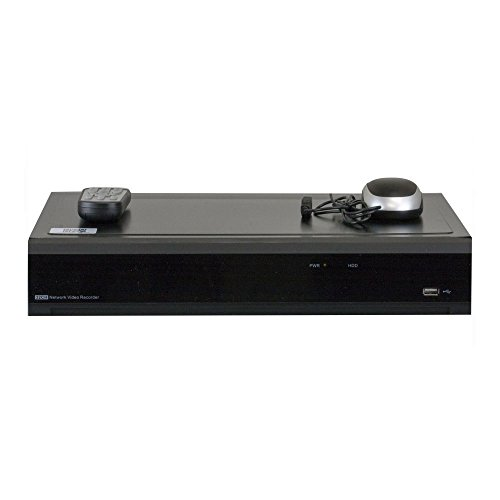 GW Security 16 Channel H.265 4K HDMI NVR / Network Video Recorder, 16CH PoE Ports - Compatible with 8MP / 5MP /4MP 1080P Realtime ONVIF IP Cameras (No HDD Included, 4x HDD bay, up to 32TB total)