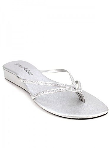 0f44b187aceb3 Cendriyon, Tong Argent Brillante FEEL Chaussures Femme Taille 37 ...