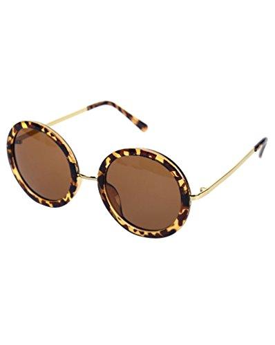y para de Lente Gafas Moda MissFox Sol Vintage Sunglasses UV400 Mujer única Ronda Hombre Gafas Leopardo Talla SnppBw1q