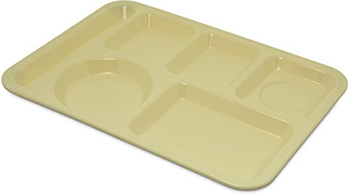 (Carlisle 4398004 Melamine Left-Hand 6-Compartment Divided Tray, 14