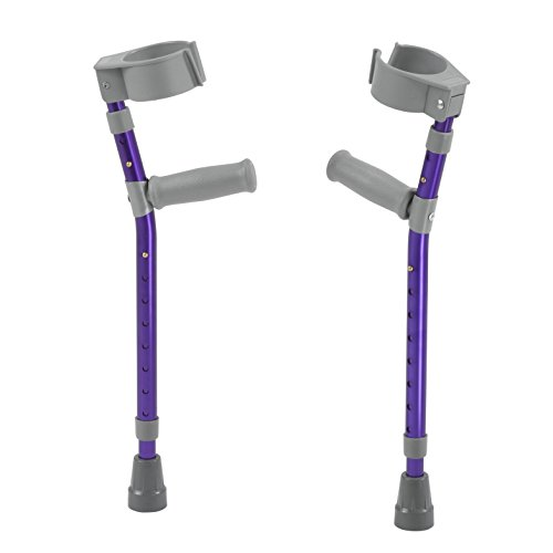 Inspired by Drive Pediatric Forearm Crutches, Wizard Purple, Large