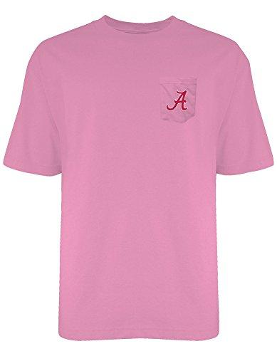Elite Fan Shop Alabama Crimson Tide Pocket Tshirt Neon Pink - S