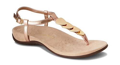 Vionic Women's Rest Miami Toe-Post Sandal Rose Gold 5 M US