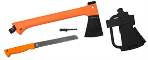 Sarge Knives SK-952C Thor HI-VIS Survival Axe & Saw in Clamshell