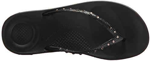 FitFlop Mujer dorado iQushion Ergonomic Chanclas Negro