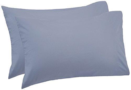 Pinzon 500-Thread-Count Pima Cotton Sateen Pillowcases - Standard, Flint Blue (Set of 2)