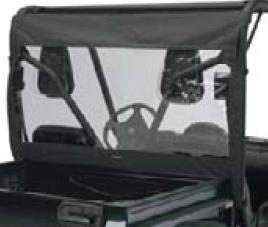 Classic Accessories 78667 QuadGear Black UTV Rear Window, Fits Kawasaki 2500/3000