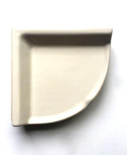 Squarefeet Depot Corner Shower Shelf Almond Ceramic Thinset Mount 8-3/4