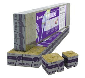 Grodan Rockwool 1.5'' x 1.5'' x 1.5'' Mini Blocks Pack of 45 by Grodan