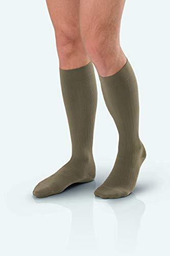JOBST forMen Ambition Knee High 20-30 mmHg Ribbed Dress Compression Socks, Closed Toe, 4 Regular, Navy