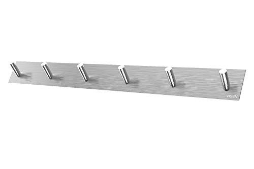 visen-adhesive-wall-hanger-towel-hook-for-clothes-coat-hat-key-bath-and-headphones-type6-hooks