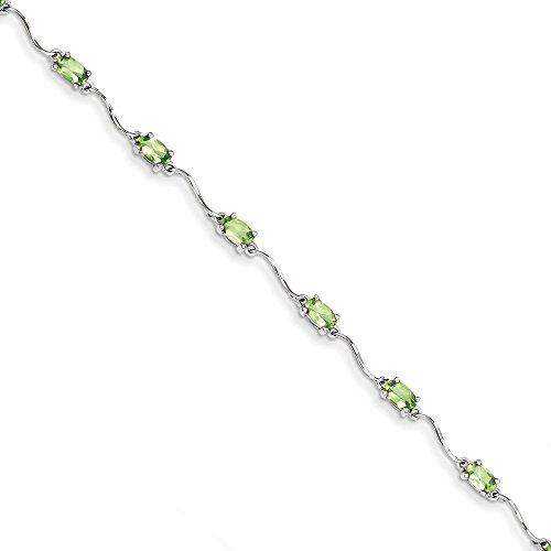 Bracelet Femme-Argent 925/1000Peridot