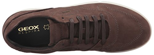 Geox U Brattley A, Zapatillas para Hombre Marrón (CIGARC6007)