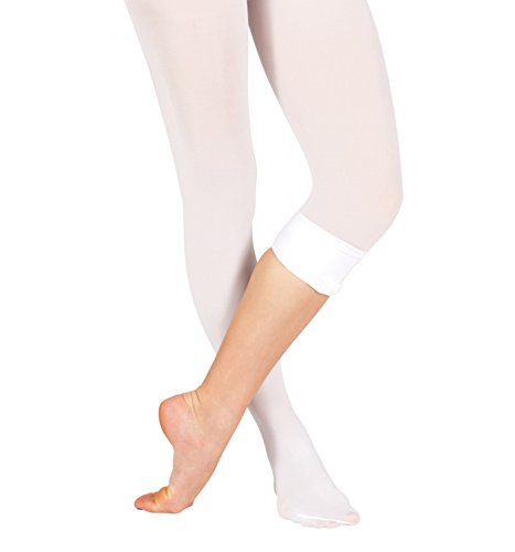 Adult Plus Size Convertible Tights with Smooth Self-Knit Waistband,T5515PPNK3X4X,Ballet Pink,3X4X