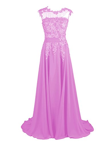 Dresstells Long Bridesmaid Dress Applique Prom Dress Evening Party Gowns Lilac Size 18W