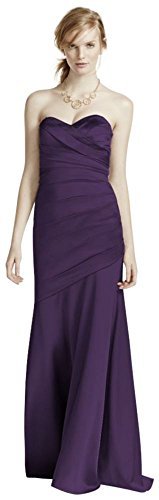 Long Strapless Stretch Satin Bridesmaid Dress Style F15586 – 18 Plus, Lapis