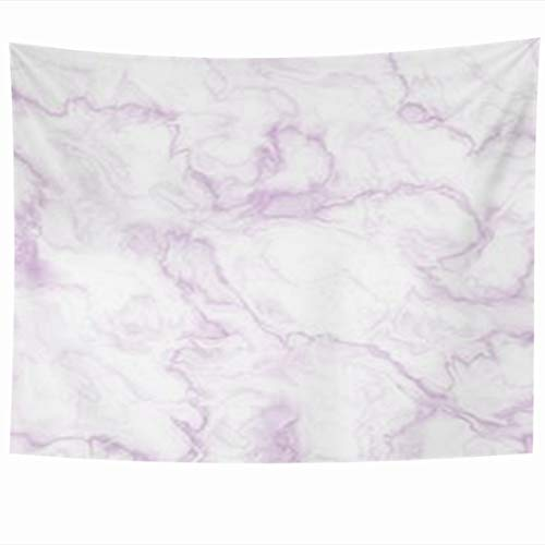 InnoDIY Tapestry Wall Hanging 80 x 60 Inches Stone Light Purple Marble Abstract Lavender White Floor Pattern Decor Tapestries Art for Home Bedroom Living Room Dorm