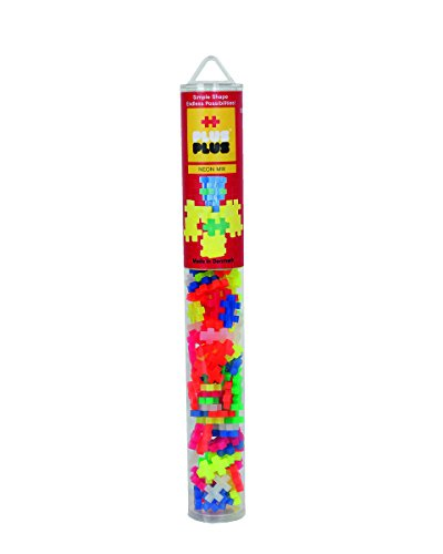 Plus-Plus Mini Basic 100 Pieces Tube - Neon Mix (Tubes Neon Mini)