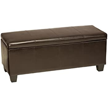 This item Cortesi Home Nives Long Storage Ottoman Bench, Espresso Brown