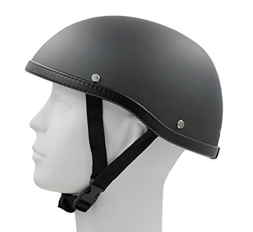 (Hot Rides Classic Chopper Biker ATV Scooter Scull Cap Helmet Novelty (Non DOT) For Cruiser Harley OSFM Flat Black)